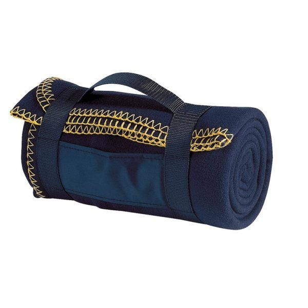 fleece_blanket_with_carry_strap_navy_blue