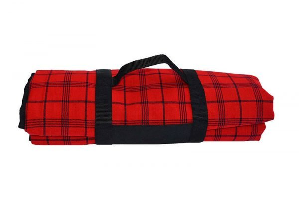 red_and_black_picnic_blanket_with_carry_handle