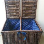 Sugar Cane Plastic Wicker Picnic Basket