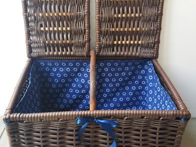 Sugar Cane Plastic Wicker Picnic Basket