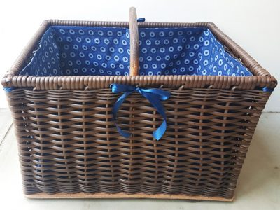 Sugar Cane Plastic Wicker Basket