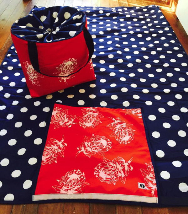 red_protea_picnic_blanket_bag_combo2