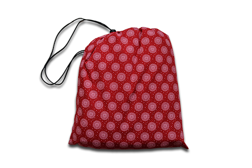 red_shweshwe_padded_picnic_blanket_bag