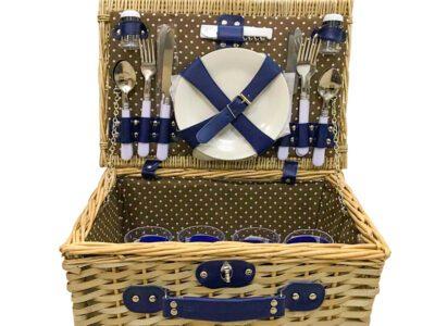 4 person wicker picnic basket