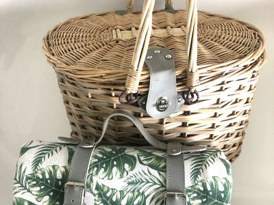 4 person wicker basket
